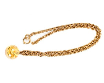 Vintage Chanel Ball Pendant Necklace