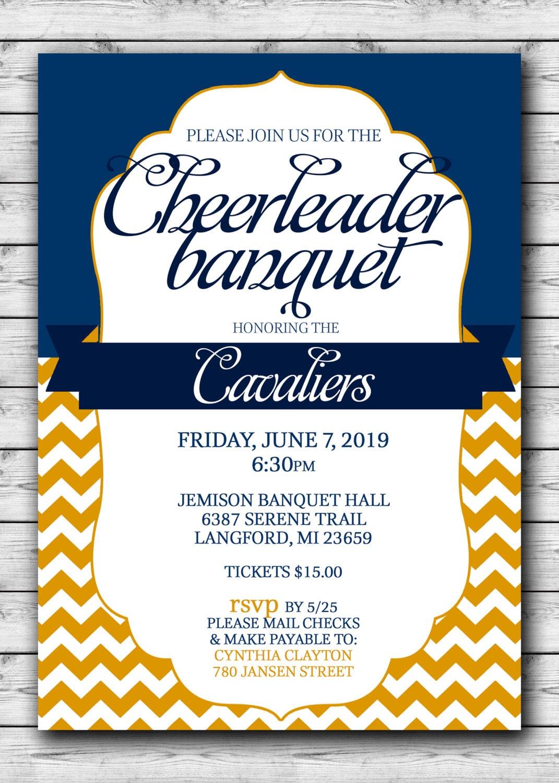 CHEERLEADER Banquet Celebration Printable Choose your team