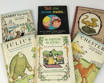 ON SALE Vintage I Can Read Books, 1950-1960s Editions, Set of Six Children's Readers Harper & Row