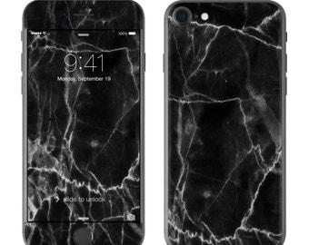Black Marble - iPhone 7/7 Plus Skin - Sticker Decal