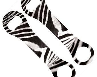 Zebra Dog Bone Bottle Opener