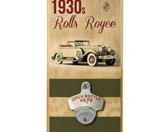 1930's Car - Wall Mounted Wood Plaque Bottle Opener