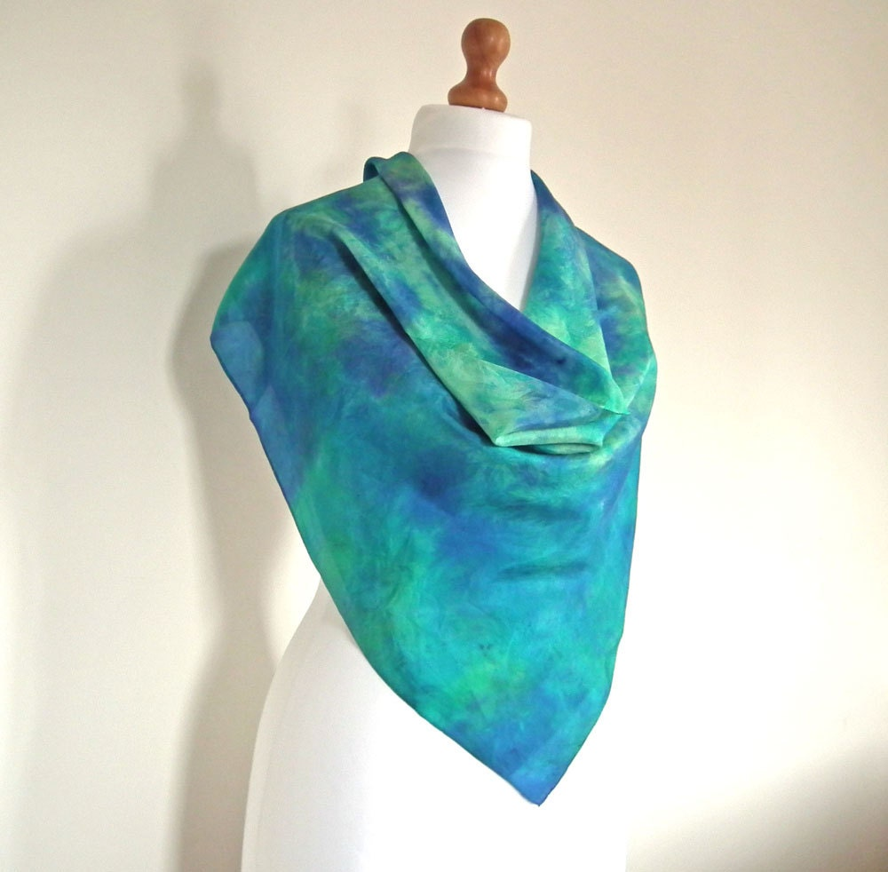 luxurious silk scarf dyed silk shawl large square