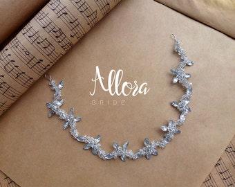 Crystal hair wreath. Wedding hair accessory. Wreath for hairstyles. Bridal Headpiece. Crystal Wedding Haedpiece . Bridal Hair Wreath