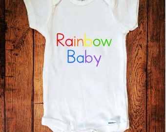 Rainbow Baby, Newborn Rainbow Baby, Rainbow Baby Outfit, Baby Bodysuit, Newborn Bodysuit, Baby Shower Gift,