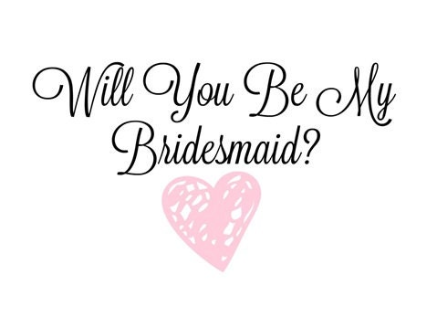 image relating to Will You Be My Bridesmaid Printable named Will Your self Be My Bridesmaid Printable