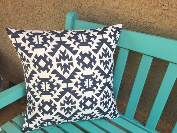 Decorative Pillows For Navy Couch : Decorative Sofa Pillows Navy and White Couch by HomeMakeOver