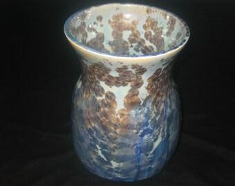 unique flower pot,finshed in one of a kind crystal glaze