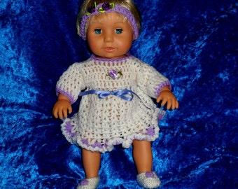 TINY TEARS DRESS and headband. Dolls clothes.