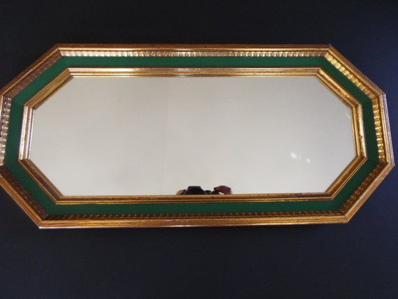 Octagon Mirror Gold And Green Molding Turner Wall Mirror Mid