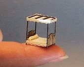 1/144th inch scale miniature-Canopy Bed