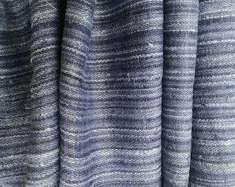 Hand woven Hmong hemp fabric Natural indigo by the meter (H39)