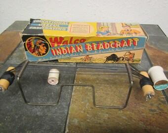 vintage WALCO INDIAN BEADCRAFT  #155 Loom in box ** mid-century