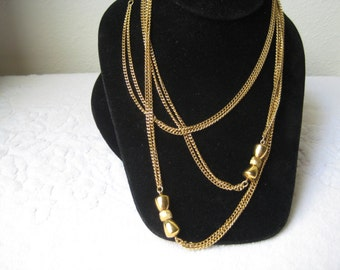 vintage Monet Rope style necklace