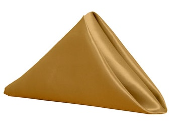 Gold Napkin for Weddings Pack of 10 | Wholesale Satin Napkins