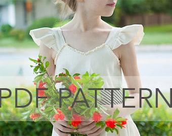 Rosie Cotton PDF, girl dress pdf, summer dress pdf, girl pattern, flutter sleeve pdf, girl pdf, dress pattern, dress girl pattern, dress pdf