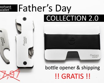 Father's Day Collection 2.0 , wallet, key chain, key organizer, silver aluminium