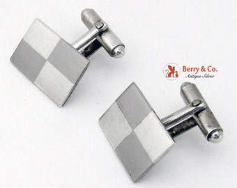 SaLe! sALe! Mexican Modernist Cufflinks Sterling Silver