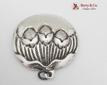 SaLe! sALe! Vintage Pendant Nut Decorations Sterling Silver Signed