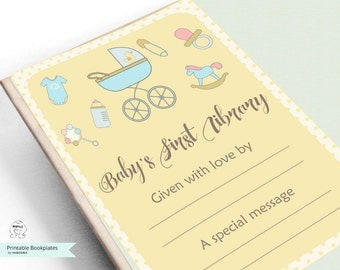 Baby Shower-Printable Bookplates -Book Plates -Baby Shower Bookplate -Bookplates-printable Bookplates- baby's Bookplate,Book-themed