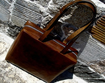 LEATHER HANDMADE BAG / Briefcase / Leather Messenger Bag / Classic Briefcase / Leather Bag / Leather Handbag / Brown Bag.