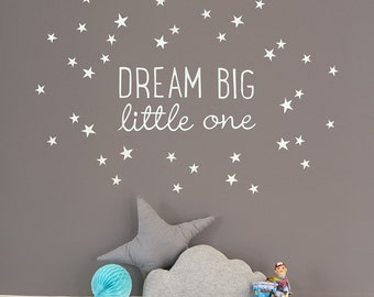 Dream Big Little One quotation wall decal