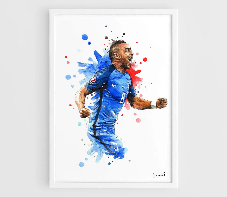 dimitri payet france uefa euro 2016 a3 wall art print poster. Black Bedroom Furniture Sets. Home Design Ideas