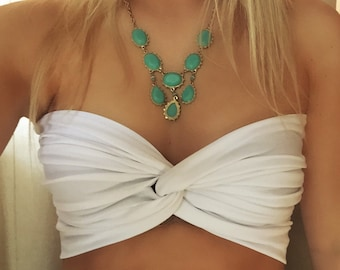 White Twist Bandeau