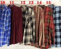 Vintage Plaid FLANNEL Oversized Shirts Top + Large & XL Size - no mysery, not Mystery Flannel, Button Down, Grunge Hipster Long Sleeve shirt