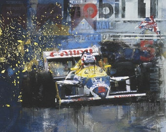 Pushing the Limit: Nigel Mansell - Limited edition print