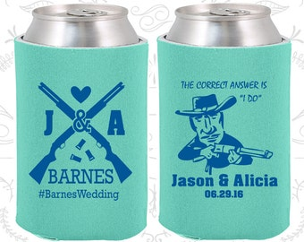 Shotgun Wedding Favors, Personalized Favors, Country Wedding Favors, Southern Wedding Favors, Redneck Wedding Favors, Can Coolers (563)