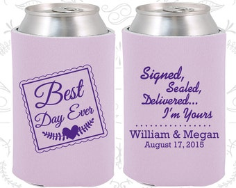 Best Day Ever, Signed, Sealed, Delivered, I am Yours, Wedding Party Gifts, Best Day Ever Wedding Gift, Romantic Wedding Gift (591)