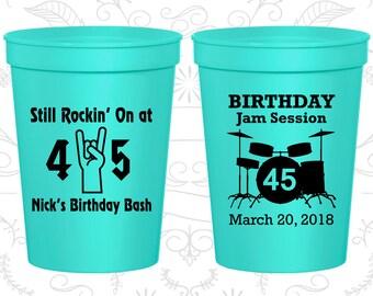 45th Party Favor Cups, Still Rockin at 45, Birthday Jam Session, Party Favor Cups, Fun Birthday Cups (20069)