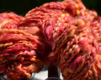 "Skein of yarn spun to the spinning wheel ""Etna"""