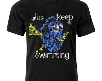 Boys or Girls Finding Dory Just Keep Swimming Kids T Shirt