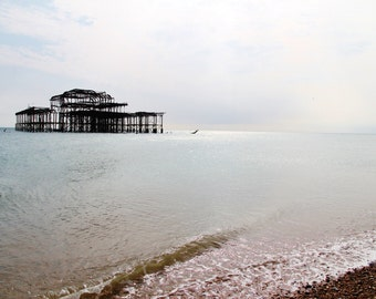 Remains Of The Brighton West Pier Fine Art Photographic Blank Greetings Card