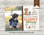 Woodland, Forest Friends Birthday Party Invitation DIGITAL FILE