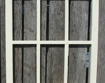 "Hand made 6 pane  window frame 21.5"" wide X 18.5"" tall pine"