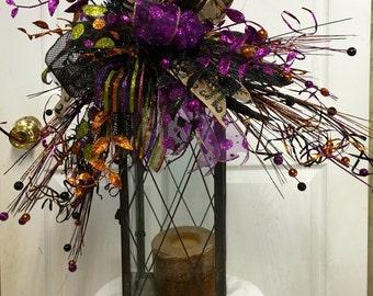 Halloween Lantern Swag Wreath