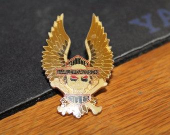vintage harley davidson crossbone & skull pendant