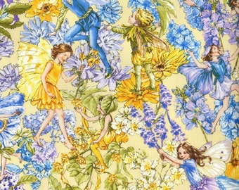 Michael Miller Fabrics - Day Fairies - DC6434-SUNK-D