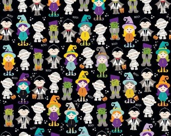 Riley Blake Designs - Halloween Parade Black - C4611-BLACK