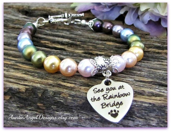 Rainbow Bridge Gift; Rainbow Bridge; Pet Memorial Gift;  Pet Sympathy Gift; Rainbow Bridge Poem; Pet Loss Memorial; Death of Pet Jewelry
