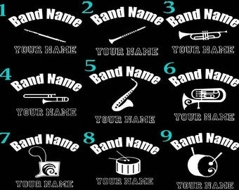 "Marching Band 6"" Car decal custom personalized any instrument"