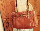 Bohemian Chic Walnut Brown Chelsea Jayden Coach Satchel Shoulder Handbag Compartment Purse/ Cottage Chic Tote Carry All