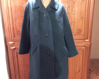 Bohemian Chic Frederick & Nelson Blue Sycamore Wool Stroller Dress Coat