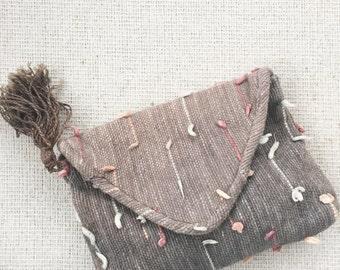 Vintage Handmade Knit Clutch