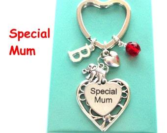 Special Mum keyring - Gift for Mum - Elephant keyring - Personalised Mother's Day gift - Mum gift - Birthstone keyring - Etsy UK