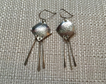 Vintage ROGGIO Sterling Silver Abstract Dangle Earrings