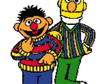 Bert and Ernie Blanket Pattern